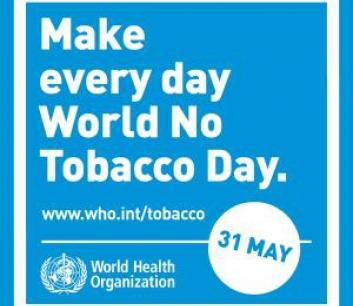 31 mei - Werelddag tegen de tabak
